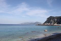 Capri (mathildepoupin) Tags: blue sky sun mer port plante capri vacances holidays paradise ile cte bleu bateau plage oiseau mouette isola beatch rve