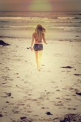 Walking on Sunshine (Keltron - Thanks for 7 Million Views!) Tags: sunset sand jordan bikini blonde californiagirls beachgirl select carmelbythesea beautifulgirl hotgirl cutoffs walkingonthebeach