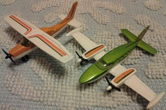 "LESNEY PRODUCTS ""MATCHBOX"" SERIES SKY-BUSTERS SP-9 CESSNA 402 & SB-14 CESSNA 210 - 1974 (NyamalaTone) Tags: vintage airplane toy collectible flugzeug jouet avion juguete"