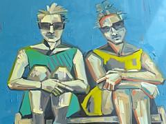 """Waiting,"" closeup (ali eminov) Tags: waiting nebraska paintings uno artists omaha painters universities campuses collegeofbusinessadministration mammelhall andreacschmitz unopacificcampus"