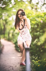 Lily (hispan.hun) Tags: red portrait woman nature girl forest canon vintage photography spring exposure hungary photographer sony budapest longhair fullframe redhair a7 gellrt stay canonfd sonyphotography sonya7 hispansphotoblog