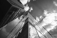 Up (Erik Schepers) Tags: sky white black building up architecture modern buildings germany looking dusseldorf deutchland medienhafen