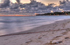 Sunrise on the beach (lelik1978) Tags: ocean morning blue sunset sea sky seascape clouds sunrise outdoor shore seashore hdr puntacana