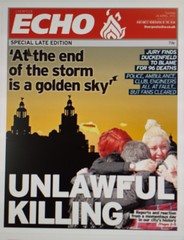 117/366 Justice for the 96 (Den's Lens 2000) Tags: liverpool newspaper lfc ynwa truthandjustice liverpoolecho jft96 366the2016edition 2016onephotoeachday project3662016