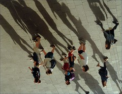 mirrored (me*voil) Tags: roof people france reflection mirror marseille shadows diagonal jibbr