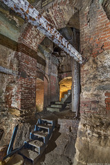 Pig belly (AccessDen1ed) Tags: light brick stairs painting underground arches caves tunnels