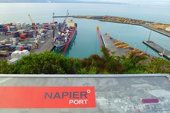 Napier Port Viewed From Bluff Hill (gec21) Tags: newzealand panasonic nz napier hawkesbay 2015 dmctz20