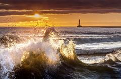 Roker, Sunderland (DM Allan) Tags: morning sea sunrise dawn coast early seaside waves northsea sunderland roker wearside