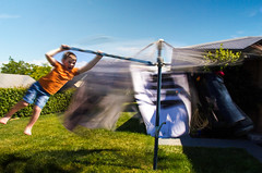 Weekend with Dad (Richard Sollorz Photography) Tags: motion blur composite photoshop fun dad child spin father son swing line hills clothes twirl layers bathurst hoist theolddays fifthgearphotography richardsollorz