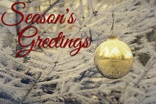 Season's Greetings, Happy Holidays, Merry Christmas Friends!!