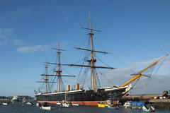 HMS Warrior, Portsmouth Dockyard (gail_heaton) Tags: sunshine boats harbour bluesky portsmouth dockyard hmswarrior