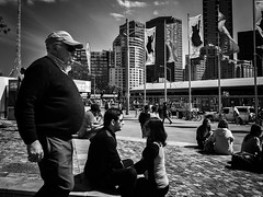 the look of love (Yiannis Yiasaris) Tags: city people blackandwhite monochrome streetphotography australia melbourne pancake 16mm ultrawideangle sonya6000