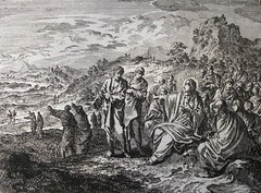 Bowyer Bible print  36.4947. Jesus sends out the apostles two by two. Jan Luyken (The Phillip Medhurst Collection) Tags: print james christ jesus bibleillustration mission bible prints gospel jesuschrist apostle scrip bibleillustrations luyken boltonmuseum bowyerbible phillipmedhurst