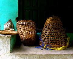Baskets (Py All) Tags: nepal wall trek asia basket asie mur pokhara annapurna panier osier nayapul