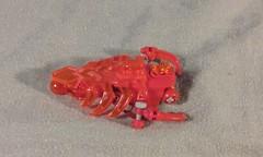 Lava Slug (ohlookitsanartist) Tags: red orange lava factory lego legs hero ribcage slug transparent bionicle claws transorange