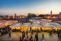 Jamaà Lfna (khldooon) Tags: city color architecture photoshop canon cityscape morocco maroc marrakech couleur ville lfna jamaa