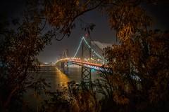 Bay Bridge view (karinavera) Tags: sanfrancisco longexposure travel bridge bay frame nikond5300