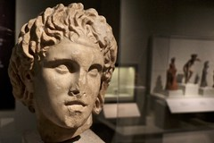 A Portrait of Conquest (LookSharpImages) Tags: sculpture chicago field museum greek fieldmuseum bust alexander museumcampus antiquity chicagoillinois alexanderthegreat ancientsculpture thegreeks greekhistory nationalarchaeologicalmuseumathens thegreeksexhibit