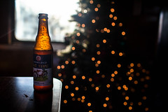 Cheers To The Past & The Future (espressoDOM) Tags: christmas xmas sunset holiday beer train fat tire explore cheers fattire christmastrain 2015 happyholiday espressodom