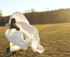 Take Me Away With You (passengercreative) Tags: portrait field grass female open outdoor surrealism dream surreal fantasy dreams cloth dreamlike plain bedsheet