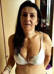sexy mom (Tina-mom of two) Tags: woman hot sexy tattoo mom breasts bra wife cleavage sexywife sexymom
