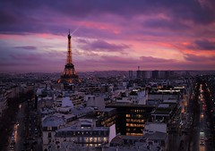 City of Lights (aaronsamuelyong) Tags: city sunset paris france skyline landscape europe cityscape eiffeltower olympus citylights olympuspen sunsetporn microfourthirds olympus25mmf18