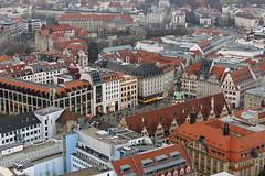 Leipzig von oben (ingrid eulenfan) Tags: leipzig rathaus oben marktplatz uniriese panoramatower