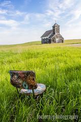 Have a Seat (Comtesse DeSpair) Tags: abandoned church chair northdakota