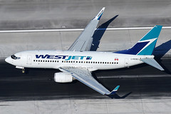 Westjet Boeing 737-7CT C-FEWJ (Mark Harris photography) Tags: plane canon aircraft aviation boeing lax spotting