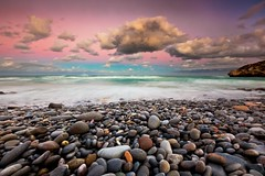 Art Wolfe (rachelkatz896) Tags: ocean africa pink blue sunset beach wet water beauty weather landscape southafrica coast rocks colorful aqua waves purple dusk southernocean timedexposure arniston capeagulhas printcollection