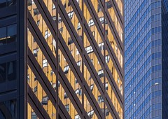 Orange and Blue (josullivan.59) Tags: nyc blue wallpaper urban panorama orange usa newyork abstract detail reflection geometric architecture day skyscrapers unitedstates january clear midtown minimalism artisitic 3rdave 2016 3exp canon6d tamron150600