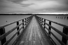 Pier I (macrobernd) Tags: bw lake water bayern bavaria see pier blackwhite wasser jetty quay wharf sw anleger ammersee langzeitbelichtung ammer longtimeexposure anlegestelle bootsanleger scharzweis