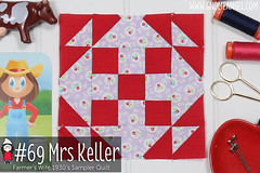 gnomeangel-farmers-wife-1930-block-69-mrs-keller-fqs (gnomeangel) Tags: modern quilt quilting patchwork tutorial farmerswife fussycutting gnomeangel fussycuttersclub farmerswife1930