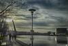 La farola (juantiagues) Tags: río puente farola paseo auditorio nubes tirantes lérez juanmejuto juantiagues