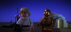 That little droid's gonna cause me a lot of trouble (hachiroku24) Tags: new sky night hope star looking lego farm luke trouble walker wars iv episode moisture droid c3po tatooine