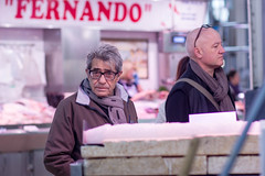 """Fernando"" (myeyeneverlies) Tags: light portrait people man valencia look scarf glasses intense spain day adult natural market random name coat central woody portraiture thinking stare conceptual adulthood"