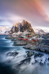 Sunrise in Reine (shaunyoung365) Tags: sea mountain seascape mountains norway sunrise long exposure sony reine a7rii