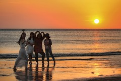 Sunset Selfie Friends (leewoods106) Tags: trip travel ladies girls sunset red sea vacation orange holiday reflection beach wet water lady canon reflections outside person photography photo sand holidays asia southeastasia photographer phone pacific photos outdoor group pacificocean journey malaysia borneo kotakinabalu persons traveling sabah peopl beautifulview southchinasea beautifulmoments traveler selfie redsunset tanjungaru beautifulplaces beautifulsunset beautifulisland offthebeatentrack warmsunset beautifulimage wonderfulplaces shangrilatanjungaru beautifulseascapes incredibleplaces selfiestick canoneosm selfiefriends canonefs55250mmstm