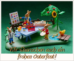 Frohe Ostern ... (Harald52) Tags: ostern fest spass playmobil figuren feier