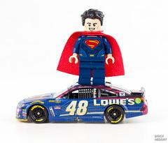 LEGO Superman and the 48 #BatmanvsSuperman @jimmiejohnson (Brick Resort) Tags: nikon lego superman nascar minifig jimmiejohnson legominifig legobatman batmanvssuperman legosuperheroes legosuperman lego2016 lego2016sets 2016lego supermandiecast legosets2016