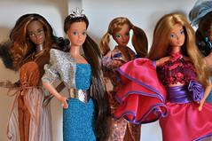 80s Barbie Dreams (miyalumix) Tags: people love vintage golden necklace 1982 colorful doll ooak dream barbie indoor plastic 80s whitney pj beat christie bling date 1980 diva sensations secrets mattel jewel steffie midge scupt bopsy