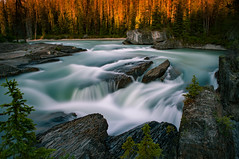 Kicking Horse River, Yoho National Park British Columbia (digitalVerve) Tags: longexposure sunset canada mountains water river landscape rockies waterfall bc outdoor britishcolumbia roadtrip naturalbridge serene yoho continentaldivide canadianrockymountains kickinghorseriver digitalverve