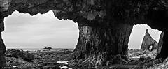 Campiechos cave (A. del Campo) Tags: sky blackandwhite espaa naturaleza blancoynegro beach water clouds monocromo mar blackwhite spain agua nikon rocks asturias playa cielo nubes cave nikkor rocas cueva caverna marcantbrico cadavedo nikond7000 campiecho