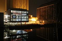 Berlin Westhafen bei Nacht (2/3) (Pascal Volk) Tags: berlin night 35mm reflections nacht reflexion spiegelung westhafen berlinmitte moabit binnenhafen canonef1635mmf4lisusm canoneos6d