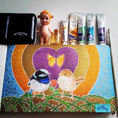 Unconditional love #birdportrait #rose #creative_animalart #thorns #love #winsorandnewton #moleskine #artjournal #art___share #heart #gold #arts_gallery #sonnyangel #pajaritos #butterfly #mariposa #_tebo_ #rosa #waterblog (Milagritos9) Tags: love butterfly square gold heart lofi squareformat lovebirds thorns acrylics acuarelas birdportrait artistjournal pajatitos iphoneography birdjournal instagramapp uploaded:by=instagram moleskinewatercolours paracelsorose