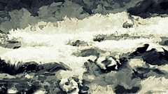 Like a wave in the sea (Cleide@. a bit slowly ) Tags: sea brazil  art texture digital photo waves exotic 2016 ps6 artdigital sotn awardtree cleide netartii