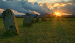 Castlerigg Stone Circle Sunset (Andy Watson1) Tags: park uk trip travel light sunset shadow vacation england sun lake holiday mountains english grass stone clouds standing canon circle easter landscape golden evening march countryside site spring ancient scenery view britain stones district united sunday great lakedistrict scenic sigma atmosphere kingdom historic national hour cumbria british rays lakeland keswick atmospheric castlerigg englishheritage castleriggstonecircle 70d