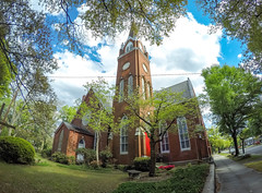 Methodist Church (L.Grey Photography) Tags: church nc downtown faith churches fisheye christianity methodist wilmington methodism gopro hero4silver