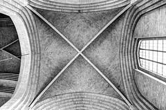 Grundtvig's Church / Vault (Images George Rex) Tags: bw brick church copenhagen interior gothic dk neogothic gothicrevival bispebjerg grundtvigskirken grundtvigschurch ribvault pedervilhelmjensenklint