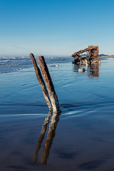 2016-01-10 - Peter Iredale Shipwreck-54 (www.bazpics.com) Tags: ocean sea usa beach water oregon america skeleton sand ship pacific or wave peter shipwreck frame hull wreck iredale